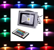 10W LED Floodlight 1 Integrate LED 900 lm RGB Remote-Controlled AC 85-265 V