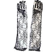 ragno pizzo nero guanti gotico accessorio halloween