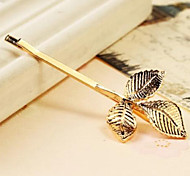 Clover Retro Golden Hairpins