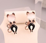 Fashion Long Cute Animal Opal  Alloy Stud Earrings for Women in Jewelry