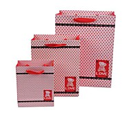 Coway 3pcs Red Love Cosmetics Party Paper Gift Bag Set