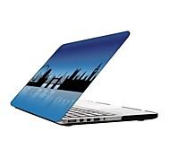 diseño de la ciudad de cuerpo completo estuche protector de plástico para el de 13 pulgadas / macbook-pro con pantalla retina de 15 pulgadas