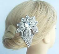 lega dell'annata delle donne con il fiore di cristallo strass gioielli da sposa da sposa capelli pettine