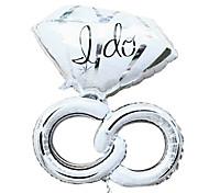 giorno di festa palloncino contorto anello di diamanti di san valentino membrana di alluminio