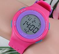 quadrante di forma rotonda moda delle donne ha portato orologi di plastica (1pc)