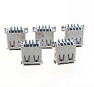 -un conector usb socket horizontal SMD 2.0 hembra (5 x)