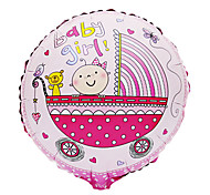 Pink Baby Girl Carriage Aluminium Membrane Baby Shower Birthday Party Balloon(1 PCS)