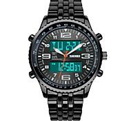 SKMEI Мужской Армейские часы Модные часы Наручные часы электронные часыLCD Календарь Секундомер Защита от влаги С двумя часовыми поясами