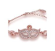 Chaînes & Bracelets 1pc,Or Rose Bracelet Alliage / Strass / Plaqué Or Rose Bijoux Femme