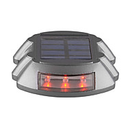 6-LED Solar Power Outdoor Road Driveway Dock Path Step Light Lamp Red-Lighting
