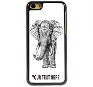 Personalized Case Elephant Design Metal Case for iPhone 5C