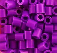 Approx 500PCS/Bag 5MM Purple Fuse Beads Hama Beads DIY Jigsaw EVA Material Safty for Kids Craft