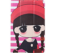 Solid High Quality PU Stand Slim-book Catoon Case for Vido N70 3G