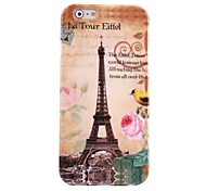 Hi-Q  Eiffel Tower Water Decals Pattern TPU Soft Case for iPhone6