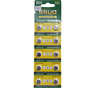 AG3/LR41/392A 1.55V Alkaline Watch Battery 10PCS