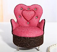 Lureme®Vintage Pink Cloth Jewelry Box(Pink)(1 Pc)