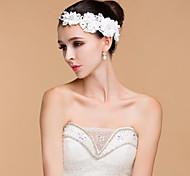 Women's Lace / Rhinestone Headpiece-Wedding Flowers Clear