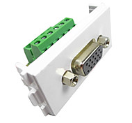 LY-Link 084 VGA Wall Socket and Panel with Wiring Diagram