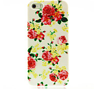 Rose Flower Pattern Hard Case voor iPhone 4/4S