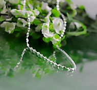 I FREE SILVER®Unisex Classic S990 Sterling Silver Chain Necklaces 1 pc