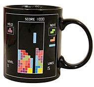 Retro 80s Video Game Mugs Tetris Heat Colour Change Coffee Cup Ceramic(3.2x.2x3.8 inch)