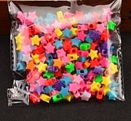 colorido del arco iris de goma telar banda de color forma de estrella accesorios pulsera de 200 PC