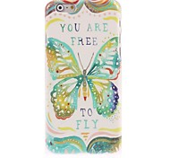 Green Butterfly Design Hard Case for iPhone 6