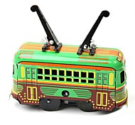 Tin Trolleybus Wind-Up Toys for Collection