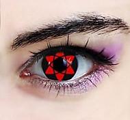 naruto sasuke uchiha hexagrama sharingan lentes de contato cosplay (1 par)