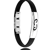 Men's Fashion Personality Titanium Steel Silicone Twelve Constellation Cancer Bracelets