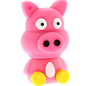 dibujos animados 32gb ZP30 sentado cerdo usb 2.0 flash drive