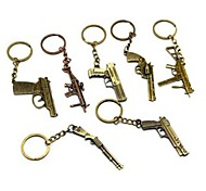 millésime pistolet alliage de bronze porte-clés (1 pc)