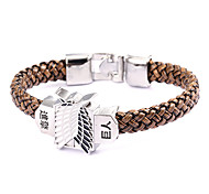 Punk Style Giant People Brown Leather Bracelet(1 Pc)