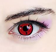 As lentes de contato cosplay naruto Hatake Kakashi sharingan (1 par)