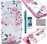 Коко fun® розы шаблон PU кожаный полный случай тела для Iphone 6 4.7 с экраном Protecter