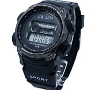 Men's Water Resistant Multi-Functional Sporty Digital Silicone Band Wrist Watch Cool Watch Unique Watch