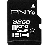 PNY 32GB Clase 10 MicroSD/MicroSDHC/MicroSDXC/TFMax Read Speed40MB/S (MB/S)Max Write Speed10MB/S (MB/S)