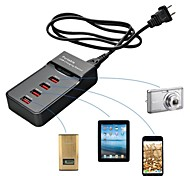 portable 4 Ports USB-Ladestation für ipad 2 iphone Luft 6 iphone 6 und iPhone 5s / 5 ipad mini 3/2/1 ipad Luft