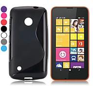 all'ingrosso! s disegno di figura caso del gel di TPU morbida per Nokia Lumia 530 (colori assortiti)