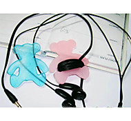 Teddy Bear Cartoon Earphone Cable Wire Cord Organizer Cable Winder