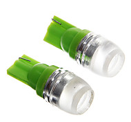 T10 1.5W Green LED  Car Instrument Lamps (DC12V, 2Pcs)