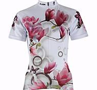 Maglia ciclismo manica corta delle donne paladinsport giglio primavera e l'estate di stile 100% poliestere maniche corte