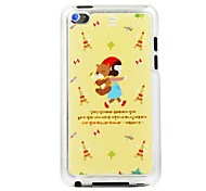 Little Red Riding Hood Girl and The Bear Leather Vein Pattern PC Hard Case for iPod touch 4
