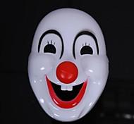 Happy Clown Plastic Halloween Mask