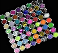 72PCS 72Colors Glitter Nail Art Decoration
