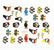 3D False Nail Art Stickers Decals Nail Accessory Loverly Cartoon for Nail Tips DIY Nail Art Decorations