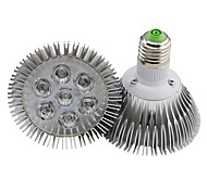 E26/E27 7W 7 High Power LED 700LM LM Warm White Dimmable LED Par Lights AC 220-240 V