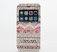 Fashion Design Pattern PU Open the Window Leather Full Body Case with Stand  for iPhone 6