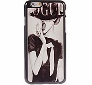 Woman Design Aluminum Hard Case for iPhone 6 Plus