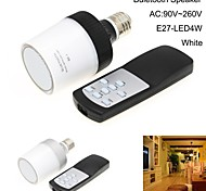 Wireless Bluetooth  Speaker E27 4W 90V~260V 6000K Natural White Light LED Ball Bulb Music Lamp with Remote Controller